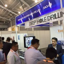 Productive Solution Asia showcasing Botek's deep hole drilling tools and TIBO's gun drilling machine at MTA 2015 Singapore