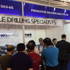 Botek representative from Germany sharing his expertise in deep hole drilling at MTA 2015 Singapore